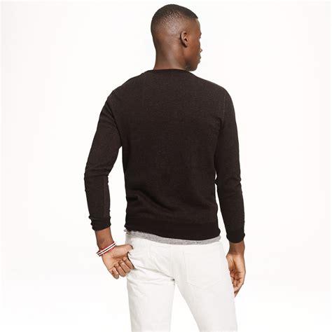 rugged apparel j crew slim rugged cotton sweatshirt sweater in black for lyst