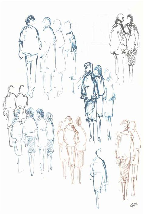 Drawing Figures by Landscape Marine Artist
