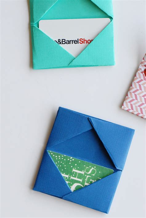 Folded Paper Cards - paper folded gift card holders a subtle revelry