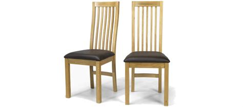 Pair Of Dining Chairs Cube Oak Dining Chairs Pair Quercus Living