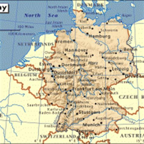 germany map printable europe germany general reference map