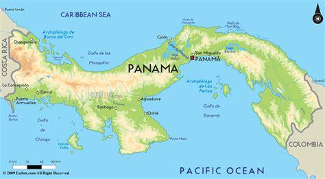 physical map of panama physical map of panama panama maps car interior design
