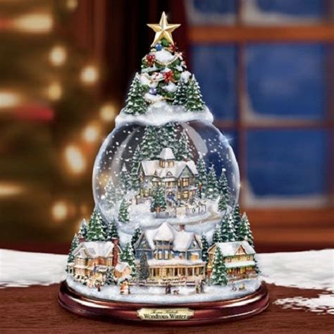 Snowball Box Winter Import Qmr6 wondrous winter snowglobe by kinkade bradford exchange ebay