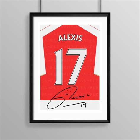 alexis sanchez signature alexis sanchez arsenal 2015 16 signed shirt print