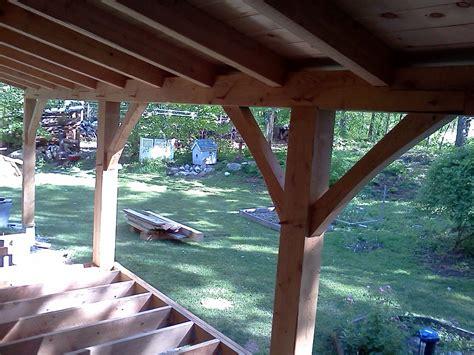 timber frame farmers porch black dog timberworks