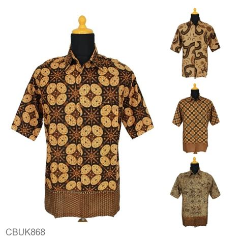 Kemeja Jumbo Kombe Batik kemeja pendek jumbo motif capocino kemeja lengan pendek murah batikunik