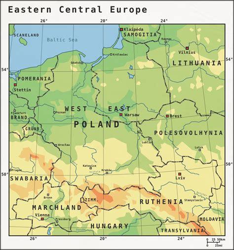 central europe map eastern central europe map europe