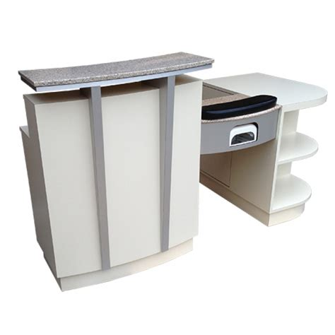 Nail Reception Desk Salon Furniture Reception Desk With Manicure Tables Model Rdnt 41r