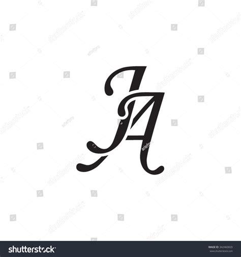 Ja Initial Monogram Logo Stock Vector 342460820   Shutterstock