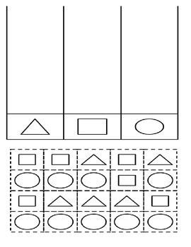 Sorting Shapes Worksheets For Kindergarten by Cut And Paste Sorting And Shape On