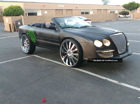 custom bentley convertible 2005 chrysler sebring convertible showcar custom bentley