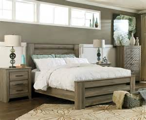 Bedroom Wall Unit Headboard Rustic Furniture Chicago Grey Bed