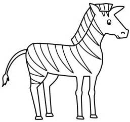 Zebra Outline Picture by Zebra Coloring Page Free Large Images