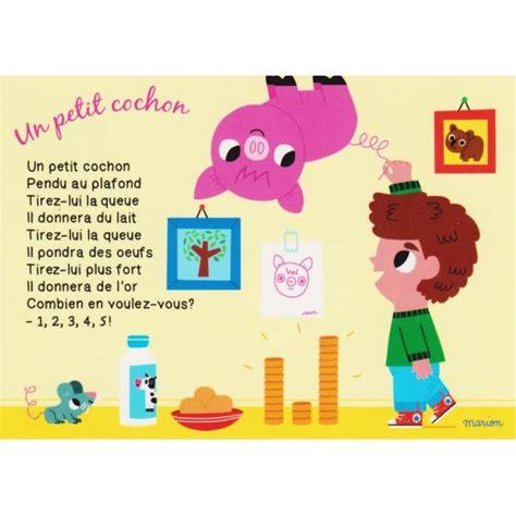 Trois Petit Cochons Pendu Au Plafond by Carte Postale Comptine Pour Enfants Un Petit Cochon