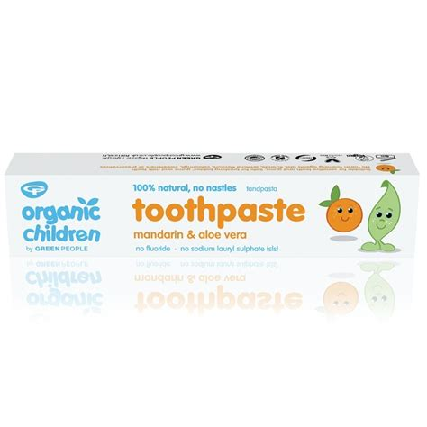 Green Organic Children Toothpaste organic children mandarin aloe vera toothpaste green