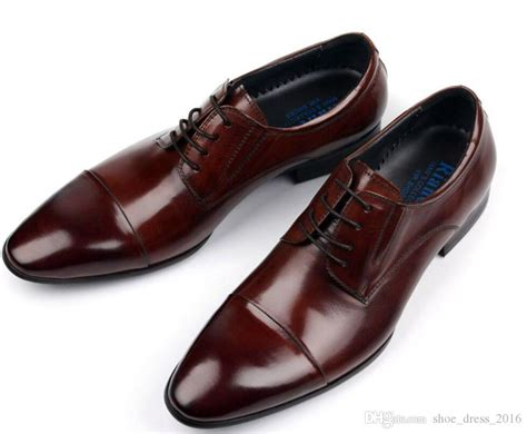 Cabaco Formal Mens Shoe Brown 2017 brand vintage classic mens formal shoes genuine