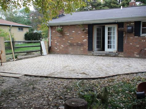 Chez V Tales From The Projects Diy Paver Patio Pond Diy Paver Patio Cost