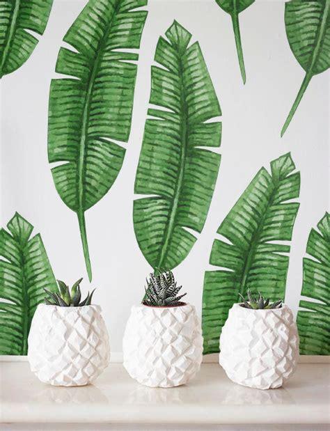 banana leaf wallpaper etsy banana leaf wallpaper removable wallpaper self adhesive