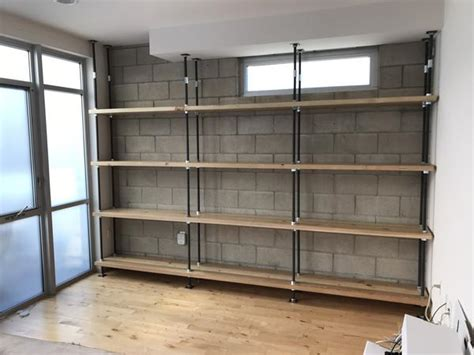 nuts bolts  treaded steel rod industrial bookcase