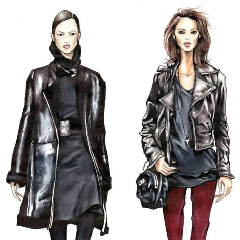 fashion illustration leather black leather jacket drawing pictures to pin on