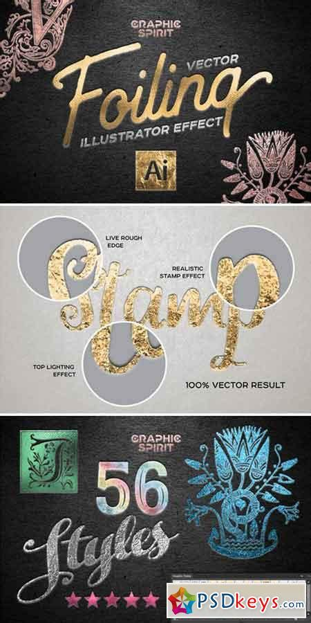 15 of the best illustrator text effects vector patterns vector foiling illustrator effect 809105 187 free download