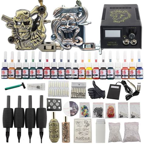 best starter tattoo kit 8 best beginner kit 2 machine guns 40 ink pedal