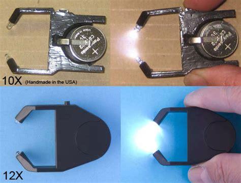 betamag 12x with light betamag folding loupe peak optics magnifiers