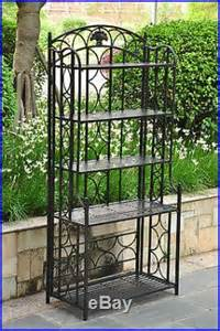 Wrought Iron Bakers Rack Plant Stand Bakers Rack Plant Stand Indoor Outdoor Patio Wrought Iron