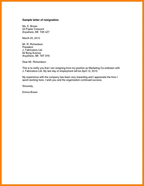 How To Write A Simple Resignation Letter