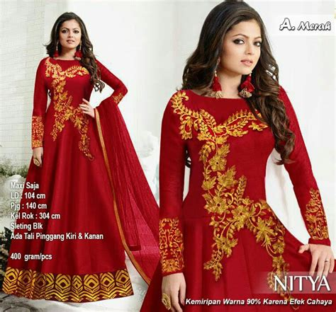 Fresya Dress Maxi Gamis Hijaber Merah dress bruklat hijabers aprilgescraft