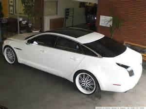 Jaguar With Rims Jaguar Xj White Black Rims Image 132