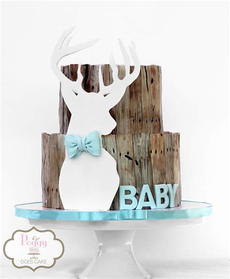 Baby Shower Deer Theme by Deer Themed Baby Shower Cake Baby Shower Cake For Deer