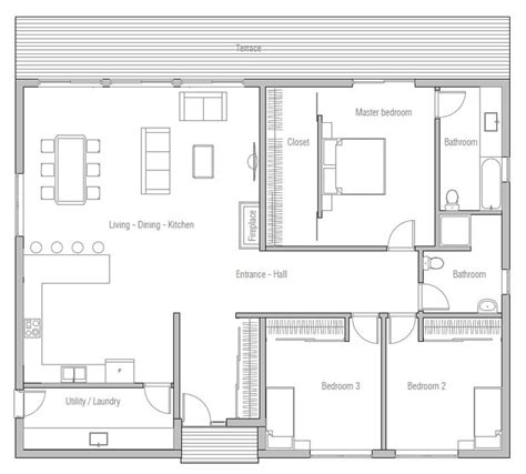 simple 1 floor house plans 25 best ideas about 3 bedroom house on pinterest the