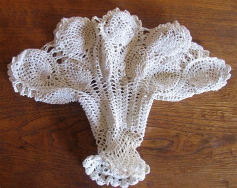 Crochet Flower Vase Pattern by Vintage Lace Crochet Flower Basket Pineapple Pattern
