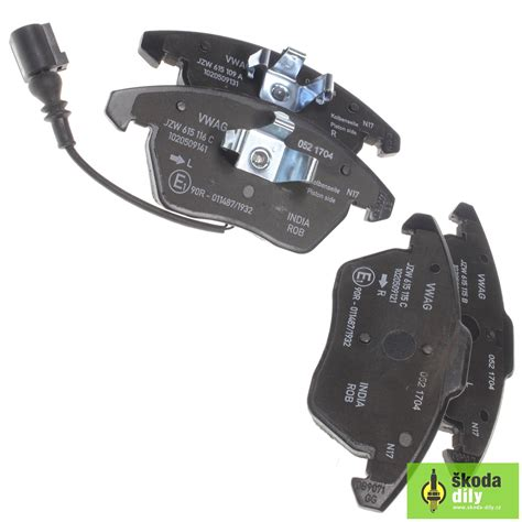 skoda brake pads front brake pads with a brake wear indicator škoda economy
