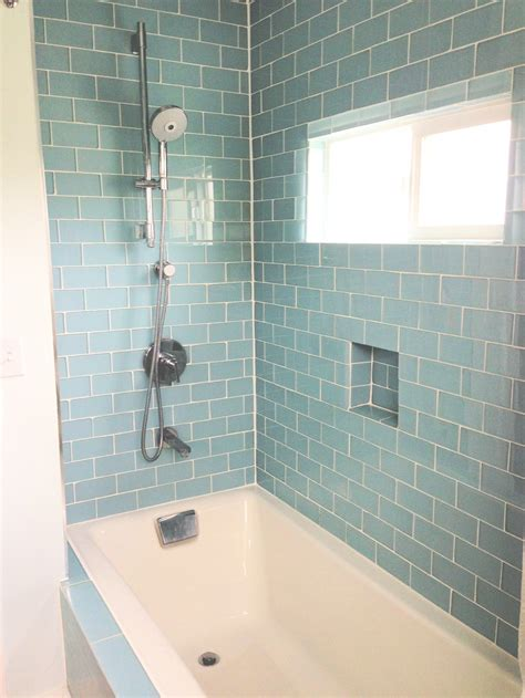glass subway tile bathroom ideas 35 seafoam green bathroom tile ideas and pictures