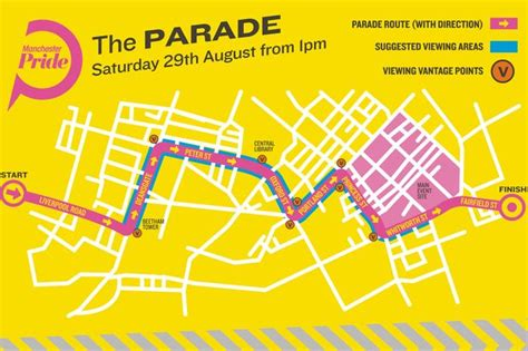 new year parade route manchester manchester pride parade route map manchester evening news