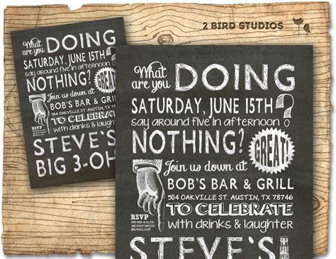 30th birthday invitation 30th 40th 50th 60th milestone