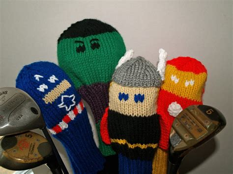 knitting pattern golf club covers knit pattern golf club cover marvel collection pdf