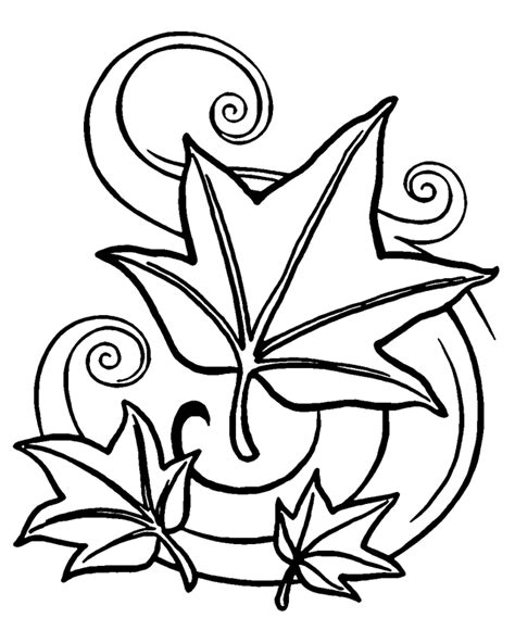 autumn coloring pages autumn leaves