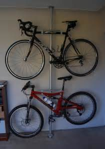 ikea poles for bicycle storage home organizing ideas