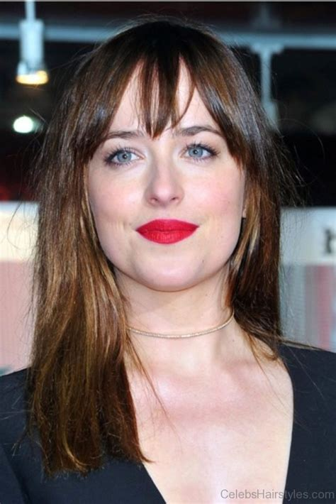 how to cut bangs like dakota johnson 40 classic hairstyles of dakota johnson