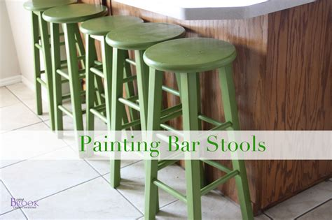 How To Paint A Bar Stool | how to paint bar stools kitchen makeover beingbrook