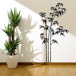 wall mural stencils bamboo tree grass wild jungle wall sticker decal mural