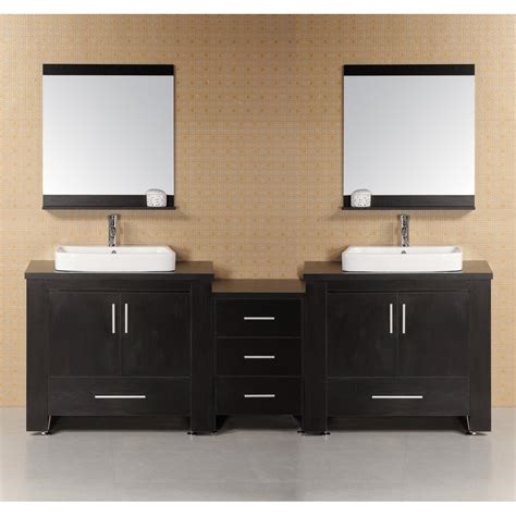 design element bathroom vanities design element washington 92 quot modern bathroom vanity