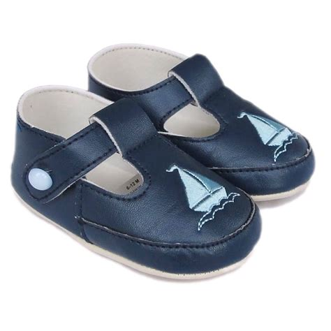 baby navy shoes baby boys navy t bar boat pram shoes christening wedding