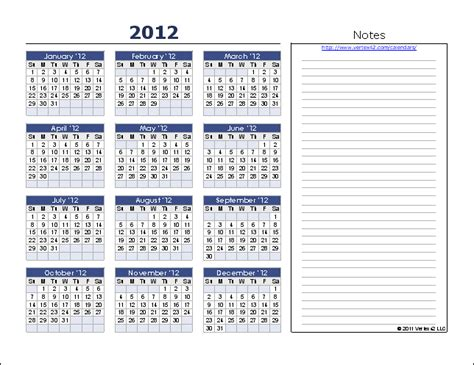 calendar with notes template yearly calendar template for 2016 and beyond