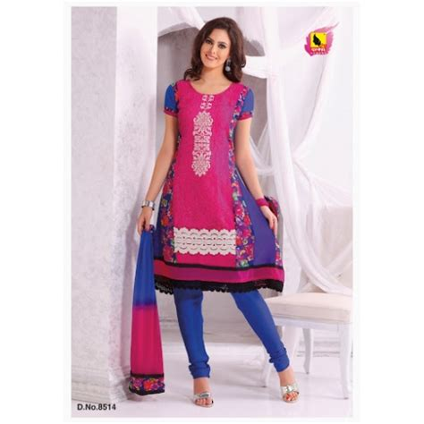 pink colour combination dresses buy cotton anarkali salwar suits with embroidery pink and