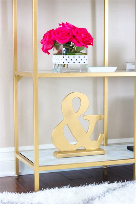 Tory Burch Home Decor by Diy Gold And Marble Shelves Bookcase Ikea Hack Stylish