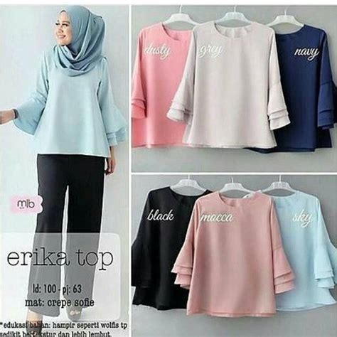 Baju Murah Atasan Terbaru Diani Top baju muslim terbaru erika top new grosir baju muslim